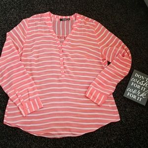 a.n.a Sheer blouse size large